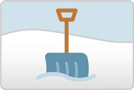 snow shovel graphic