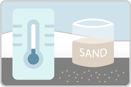 Switch to sand when it gets too cold