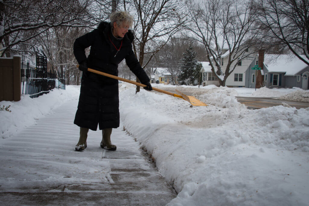 Shoveling snow effectively is the first step to reducing salt usage.